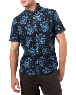 La Villa Print Woven Shirt