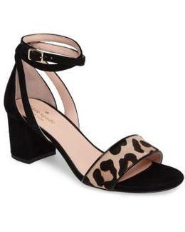 Watson Genuine Calf Hair Block Heel Sandal