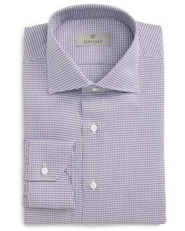 Regular Fit Houndstooth Dress Shirt