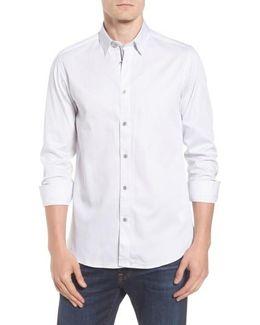 Modern Slim Fit Print Sport Shirt