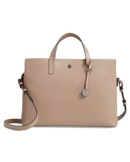 Judith Rfid-protected Leather Laptop Briefcase