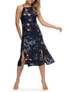 Sparkle Bright Print Midi Dress