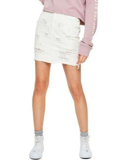 High Waist Denim Miniskirt