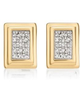 Baja Deco Diamond Stud Earrings