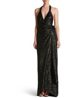 Giselle Sequin Wrap Gown