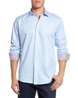 Shaped Fit Rectangle Jacquard Sport Shirt