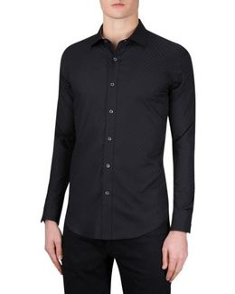 Classic Fit Checkerboard Sport Shirt