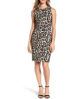 Animal Print Sheath Dress