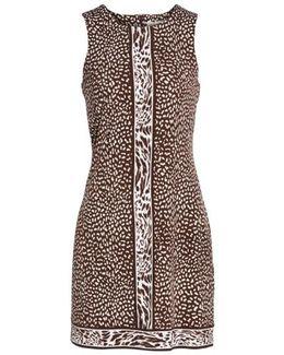 Cheetah Border Print Shift Dress
