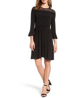 Flounce Sleeve Lace Dress