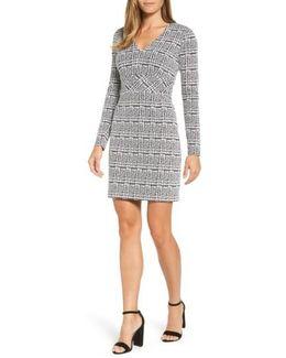 Plaid Jacquard Fit & Flare Dress