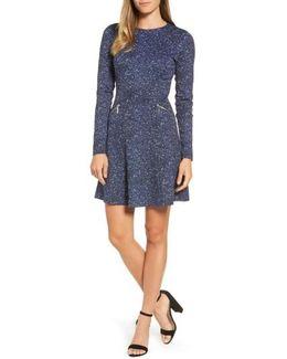 Tweed Print A-line Dress