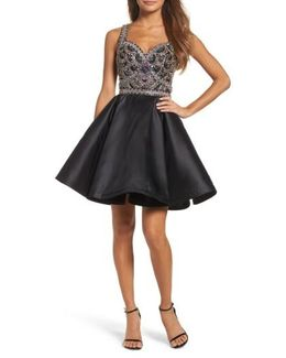 Bejeweled Fit & Flare Dress