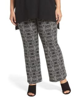 Graphic Print Pull-on Pants