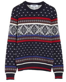 Wool Blend Ski Sweater