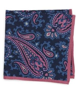 Paisley Wool Pocket Square