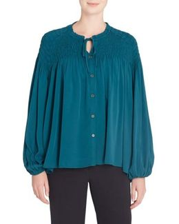 Julie Shirred Blouse