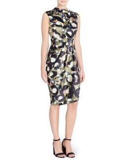 Arlene Floral Jacquard Sheath Dress