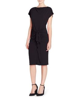 Char Stretch Jersey Sheath Dress