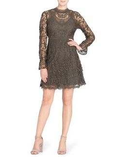 Miia Lace Fit & Flare Dress