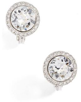 Crystal Button Stud Earrings