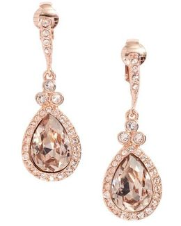Pear Crystal Drop Earrings