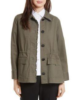 Ruffle Military Jacket