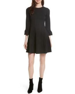 Ponte Knit Fit & Flare Dress