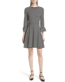 Stripe Fit-and-flare Dress