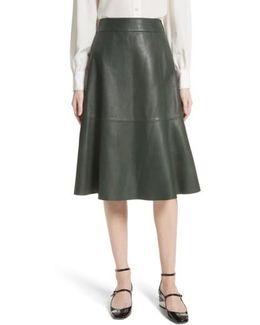 Allyson Leather Flare Skirt