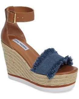 Valley Fringed Platform Wedge Sandal
