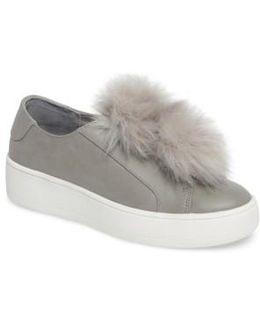 Breeze Faux Fur Pom Sneaker