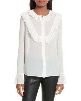Pleated Ruffle Shirt