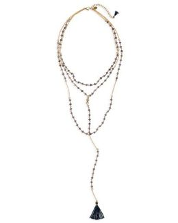 Enne Layered Lariat Necklace
