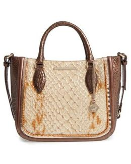 Honey Carlisle Small Lena Leather Satchel