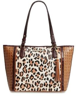 Medium Amber Capella - Asher Leather & Genuine Calf Hair Tote