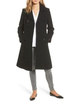 Twill Fit & Flare Coat