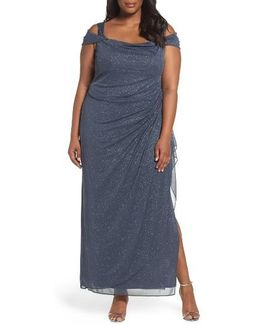 Cold Shoulder Sheath Gown