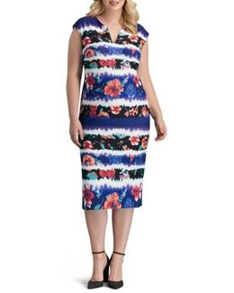 Print Pique Sheath Dress