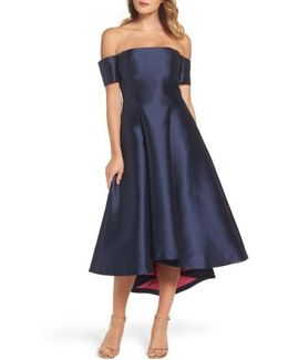 Off The Shoulder High/low Gown