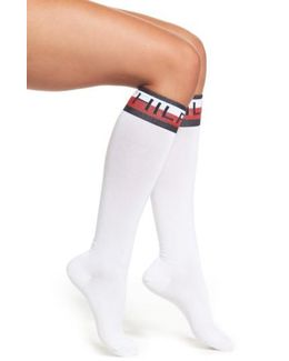 Logo Knee High Socks