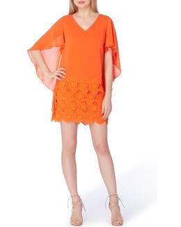 Capelet Shift Dress