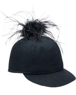 Alex Ostrich Feather Pom Cap
