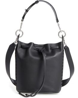 Small Ray Leather Bucket Bag