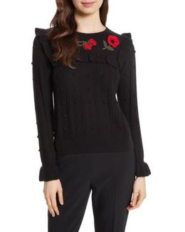 Poppy Embroidered Sweater