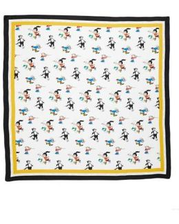 Cartoon Graphic Silk Scarf