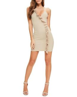 Ruffle Body-con Dress