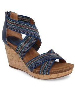 Cary Cross Strap Wedge Sandal