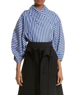 Twisted Sleeve Blouse