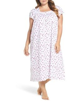 Print Cotton Nightgown